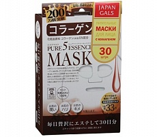 Маска для лица Japan Gals Pure 5 Essential Mask Collagen, 30шт