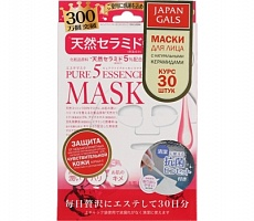 Маска д/лица Japan Gals Pure 5 Essential Mask Natural Ceramide 30шт