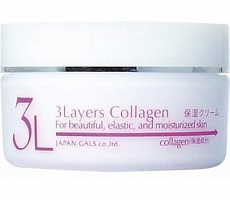 Увлаж. и подтяг. крем д/лица 3 Layers Collagen, 60гр