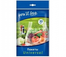 Home Queen You`ll love Пакеты Universal 21*46 см 30 шт
