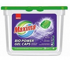 Sano Maxima BIO Power Gel Caps гель для стирки c биодобавкамио в капсулах 28 шт