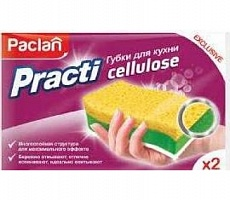 Paclan Practy Cellulose Губки для кухни 2 шт