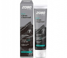 Aekyung Dental Clinic 2080 Pure Black Clean Charcoal Fresh Mint Зубная паста черная 50мл
